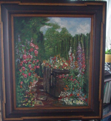 Idyllic Garden, oil on board, artist Joanne Getz