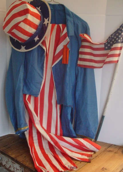 Uncle Sam Outfit, Patriotic Uncle Sam, Stars and Stripes, Americana