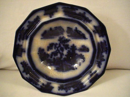 Flow Blue Bowl, Large Serving Bowl, Chapoo Pattern