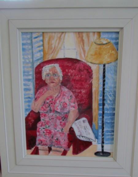 Oil Portrait of friend Julia