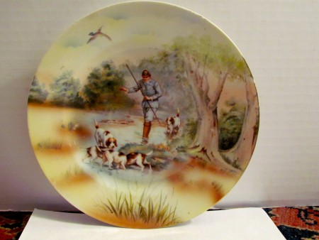 Royal Bayreuth Plate w/ Hunt Scene