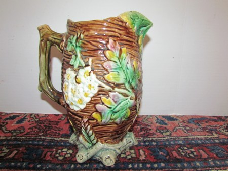 Majolica Pitcher, large size