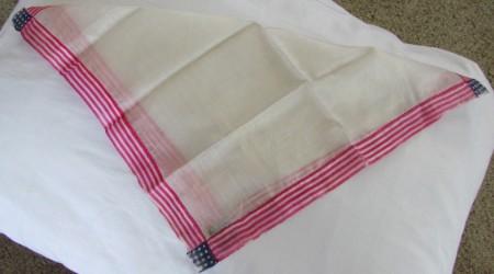 American Flag Silk Handkerchief-mid century