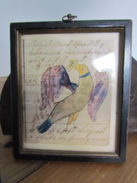 Antique Ledger Art, Eagle