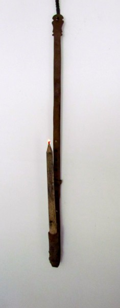 Button/Hole Iron Trammel with Candle Light, 19th. Century