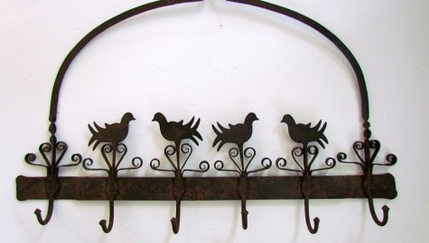 Fabulous Late 18th/early 19th. century Intricate Iron Herb Rack