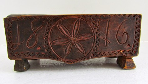 Miniature Slide Lid Box, Dated 1876