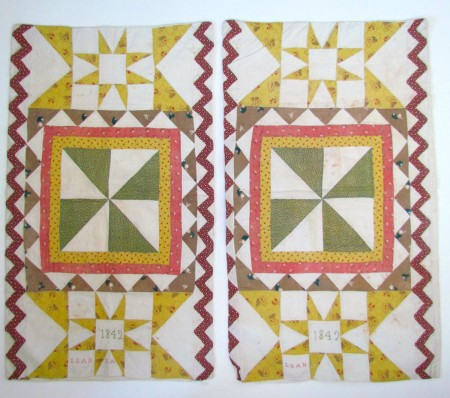 Museum Quality Textile, Signed/Dated 1842, Pa. German Pillow Cases, Pillow Slips, Lancaster County, Pa.