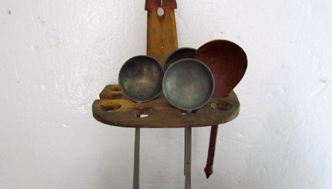 18th. Century Unusual Form, American Spoon Rack