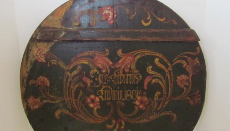 The Best Pa. German, Paint Decorated Pie Board—Dated 1801