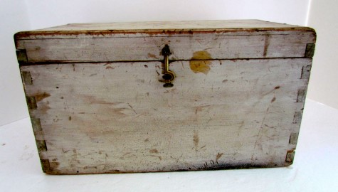 Oyster Painted Document Box, Table Box