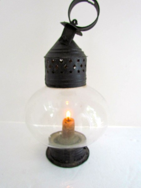 19th. century Onion Shaped Glass Lantern