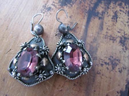 Fabulous 19th. century Victorian Amethyst Earrings