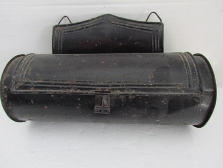 19th. century tin cylindrical Candle Box