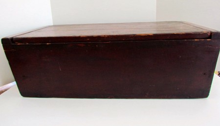 19th. century Red Painted Dough Box with Lid