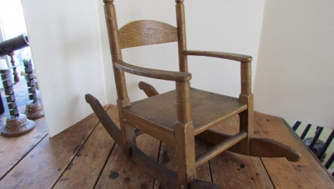 19th. century Child's Rocker in the Shaker Style