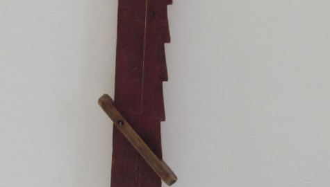 A Fabulous Red Painted Wooden Lighting Trammel