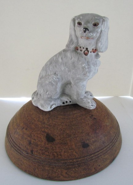 19th. century Chalkware Dog