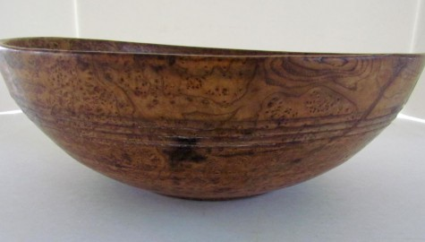 The Absolute Best Early 19th. century American Ash Burl Bowl