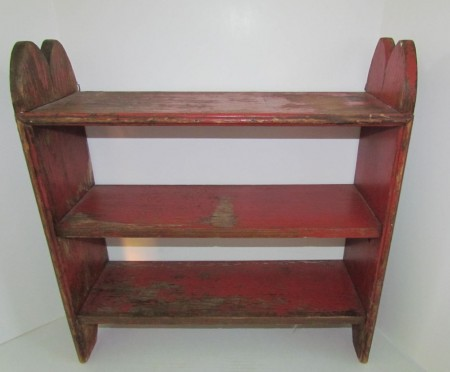 Mid 19th. century Painted Shelves or Small Bucket Bench