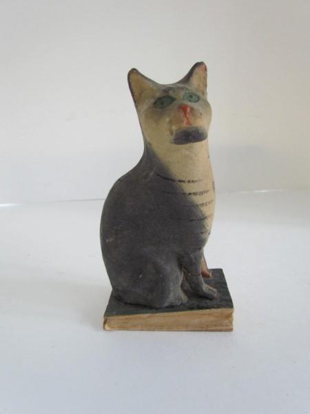 19th. century Paper Mache CAT Pipsqueak