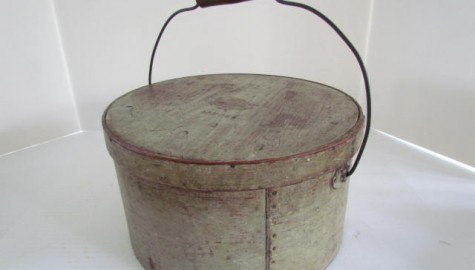 Wonderful Signed, A.S. Howe, and Painted Large Bail Handle Pantry Box