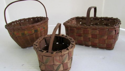 Woodland Indian Baskets, Great Small Size, with paint