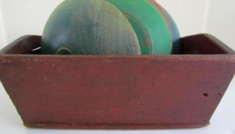 11 Inch Dough Box with original Red Paint