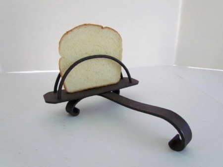 Most unusual 18th. century Individual Iron Toaster