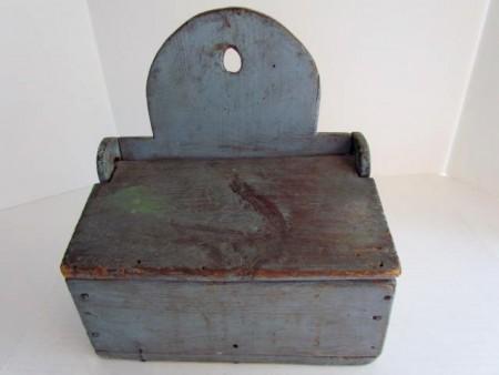 Wonderful Blue Painted Wall Box/Table Box