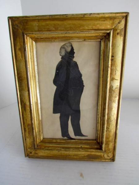 19th. century Full Length Paper Cut Silhouette of a Gentleman