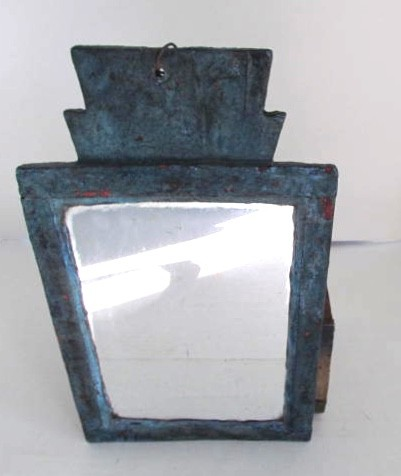Fabulous Blue Painted Fragment Mirror