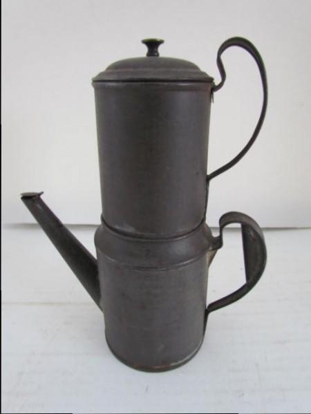 Tin 19th. century Biggin, Possibly Shaker