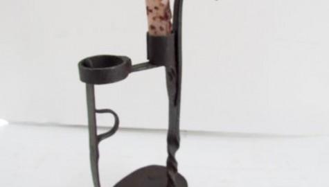 18th. century Alpine Type Candle Holder