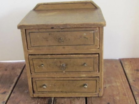 19th. Century Miniature Chest/Spice Cabinet/Apothecary, Original Paint