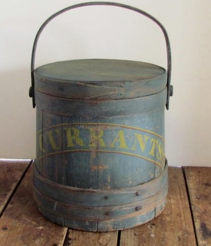 Fabulous Blue/Green, Currants, Painted Firkin
