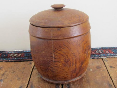 19th. Century, Original Painted Treen Canister