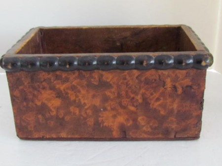 Burl Veneer Table Box