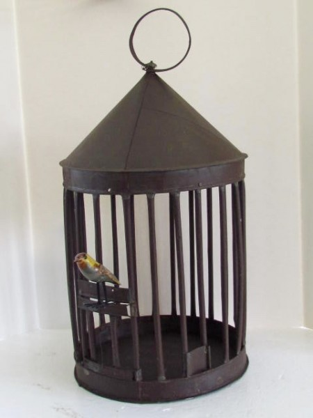 19th. Century, Tinsmith Made Birdcage