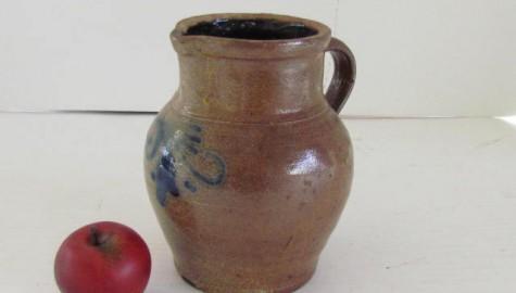 19th. Century, Small Salt Glazed Stoneware Jug/Pitcher