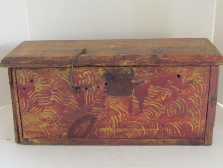 Boldly Painted 19th. century Bible Box