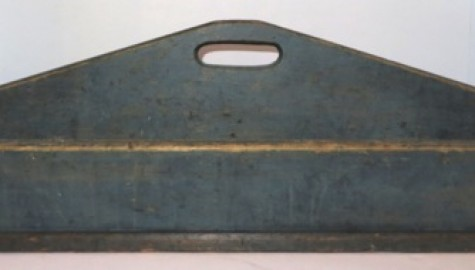 19TH CENTURY CARRIER/TOTE IN MAGNIFICENT BLUE PAINT