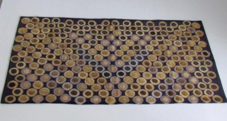 19th. Century Hand Stitched Penny Rug