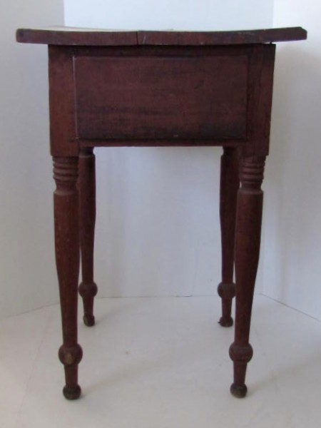 Fabulous Early 19th. century Side Table, original red paint