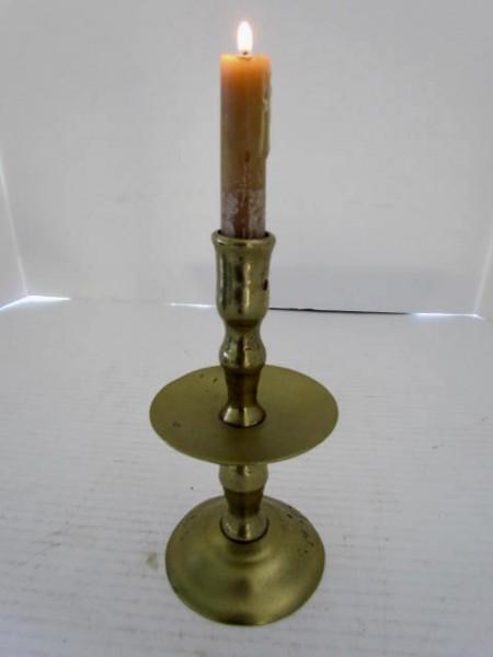 17th. Century Brass Mid Drip Candlestick