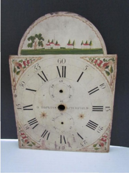 Early 19th. century Wooden Clock Face