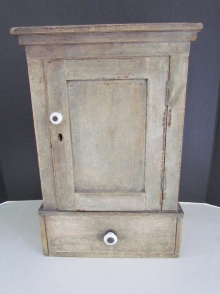 Wonderful Small, Original Oyster Painted Table cupboard