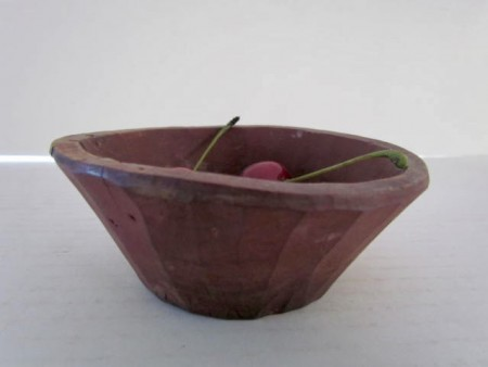 18th. century, Tiny, Red Painted, Bowl