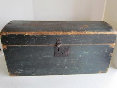 Large, Dome Top Storage Box, Best Blue Paint
