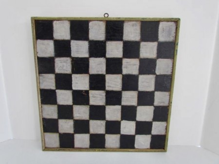 19th. Century, Small Painted Checkerboard
